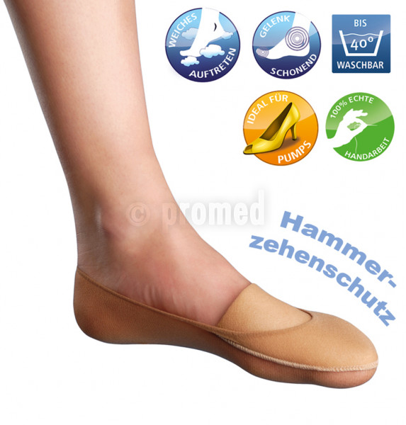 Füßling mit Zehen- oder Ballenschutz