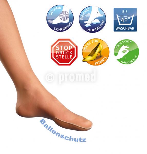 Damen-Socken mit Zehen- oder Ballenschutz